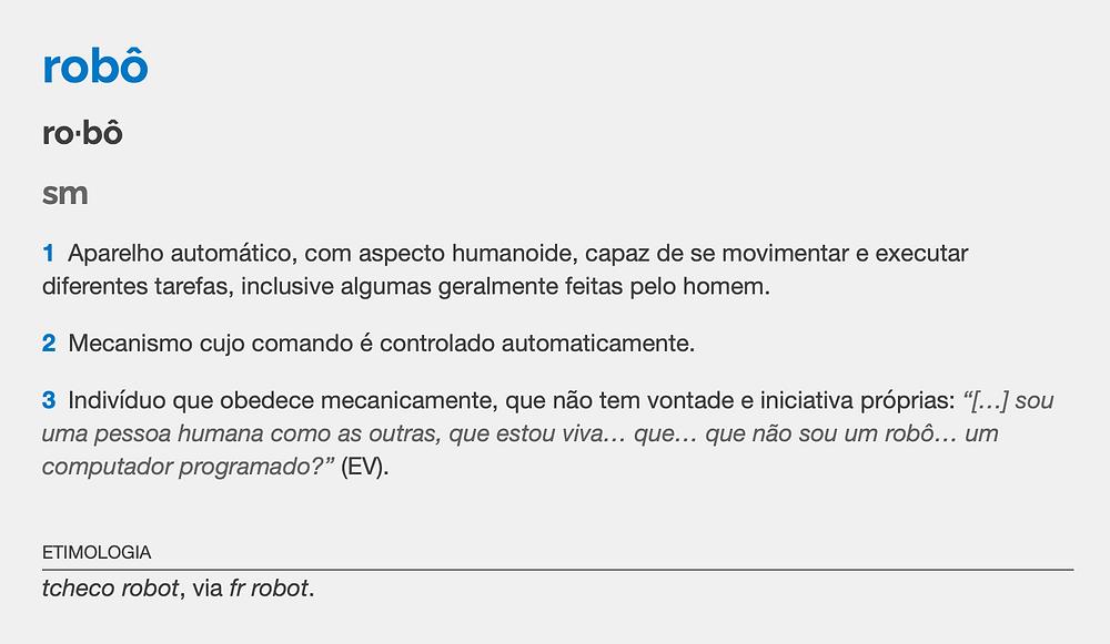 Michaelis - Robô