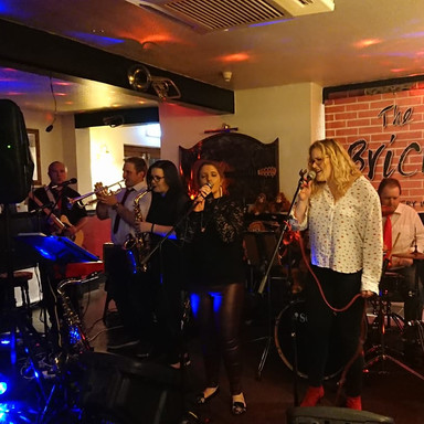 Performing at the Bricklayers Arms