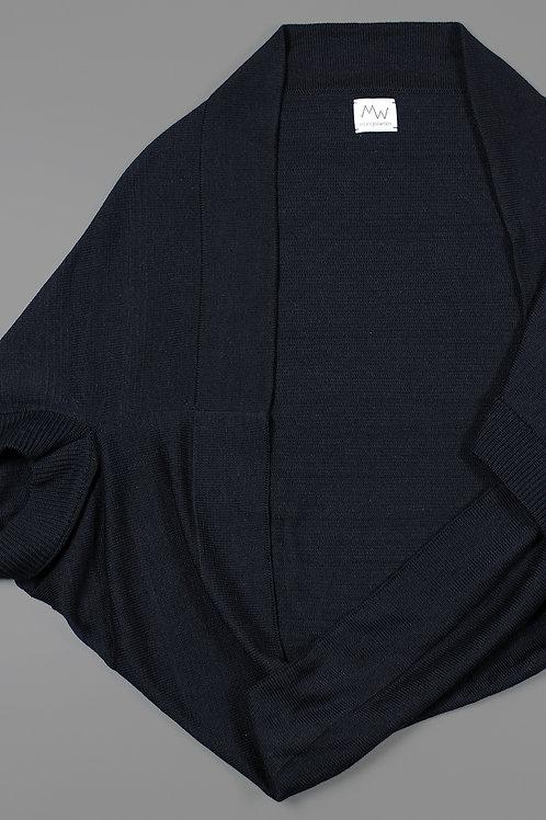 KENDALL - KNITTED VEST - BLACK