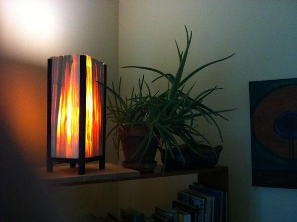 Japanese style lamp made of Cottonwood