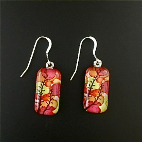 """Weeds""tiny art earrings"