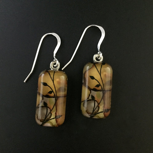 """Vines""tiny art earrings"