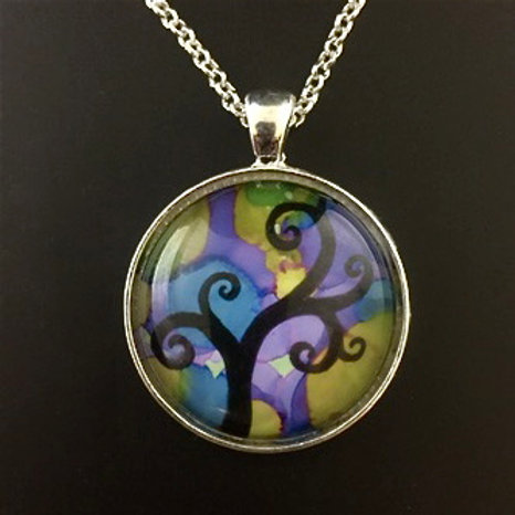 """Purple Tree"" tiny art"