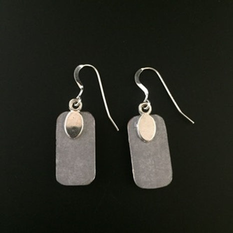 """Salmon"" tiny art earrings"