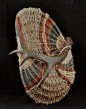 Hand Woven Antler Basket
