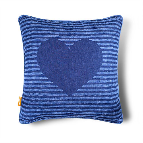 Love Heart Indoor/Outdoor Cotton Throw Pillow