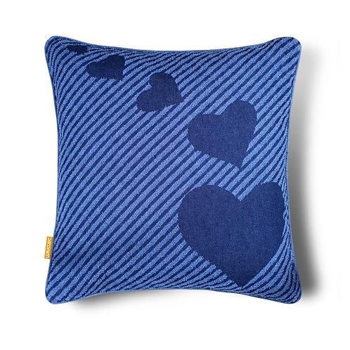 Four Heart Indoor/Outdoor Cotton Throw Pillow