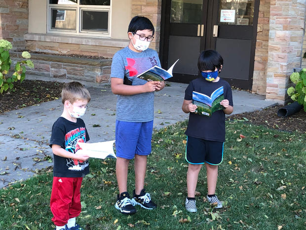 Kids at Little Library