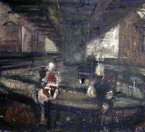 14. Family Group under Hammersmith Flyover. Oil on canvas. 60_X 72_.1984..jpg