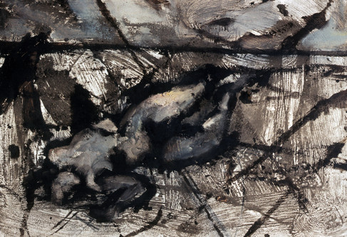 12. Nude in Landscape #1. Mixed media on paper. 24_X 36_. 1984..jpg