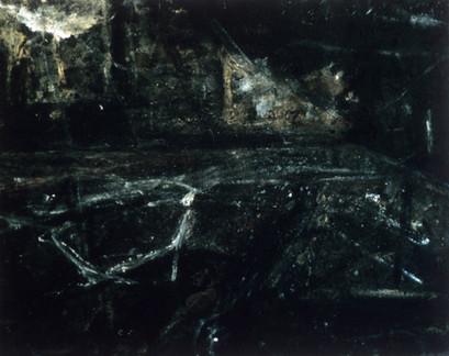 3. Nine Elms. Platform and Gasometer. Mixed media on canvas. 60_X 72_. 1984