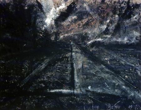 Nine Elms. Mixed media on canvas. 60_ X 72_.1984.