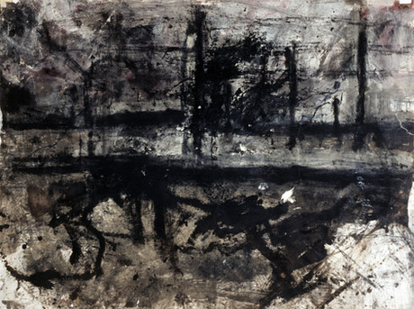 9. Nine Elms Landscape. Mixed media on paoper. 1984..jpg