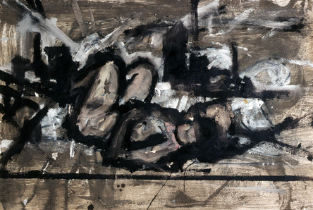 13. Nude in landscape, #2. Mixed media on paper. 24_X 36_. 1984..jpg