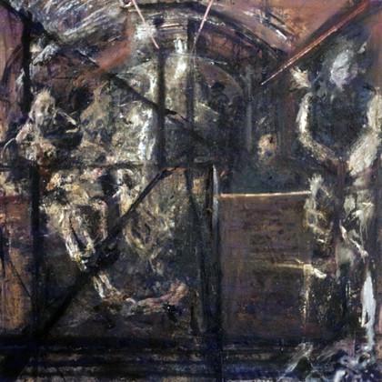 16. Northern Line. Oil on canvas. 60_ X 60_. 1984..jpg