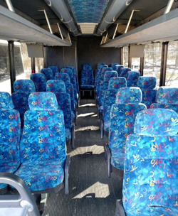 25 Passenger Mini Coach Interior