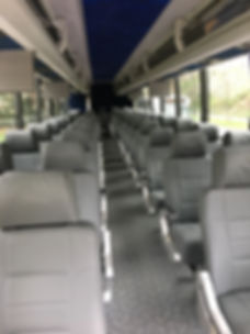 Interior of Prevost Charter Bus Lutherville, MD