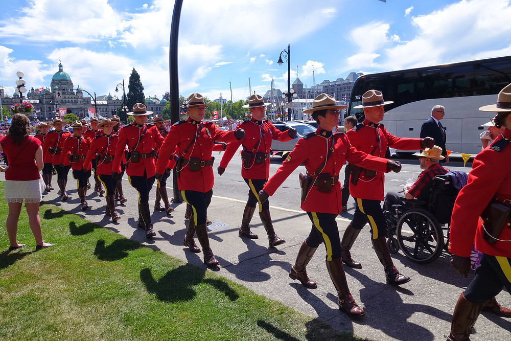 Canadian Mounties in Victoria BC
