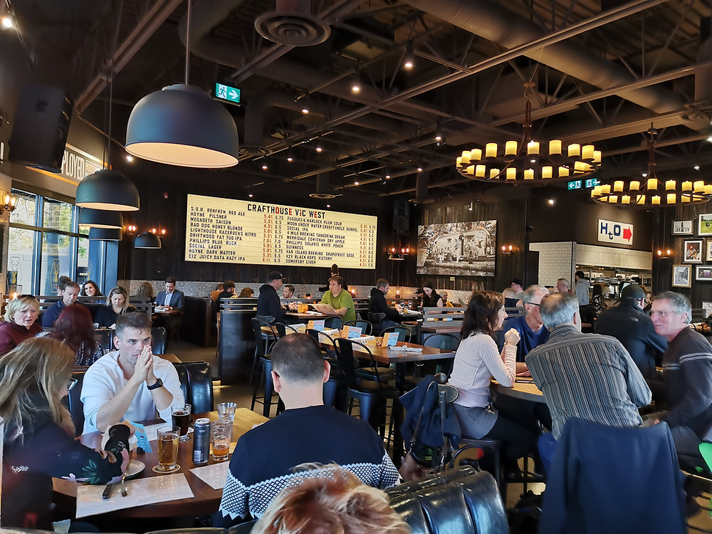 Browns Crafthouse bar in Victoria British Columbia