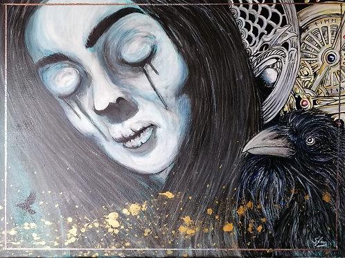 LADY'BLUE - Peinture 60x80cm