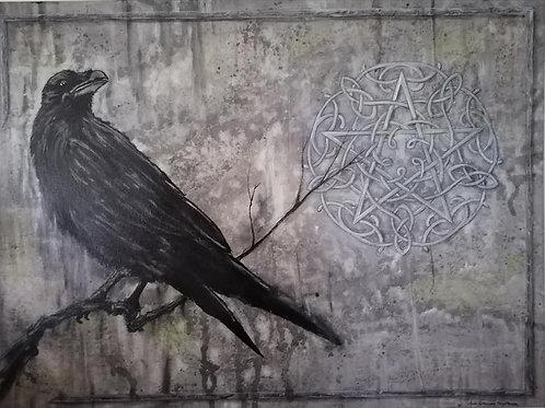 """""""THE RAVEN"""" (60x80cm)"""