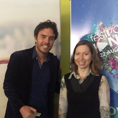 Little me with Damon Gameau, author of ThatSugar Film  at the festival of change on 22 August 2015