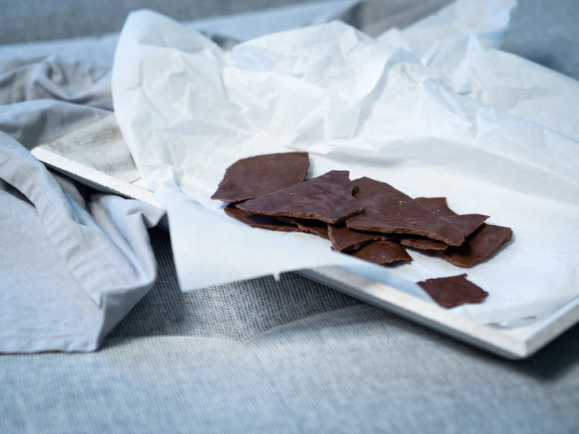 Vegane selbstgemachte Schokolade