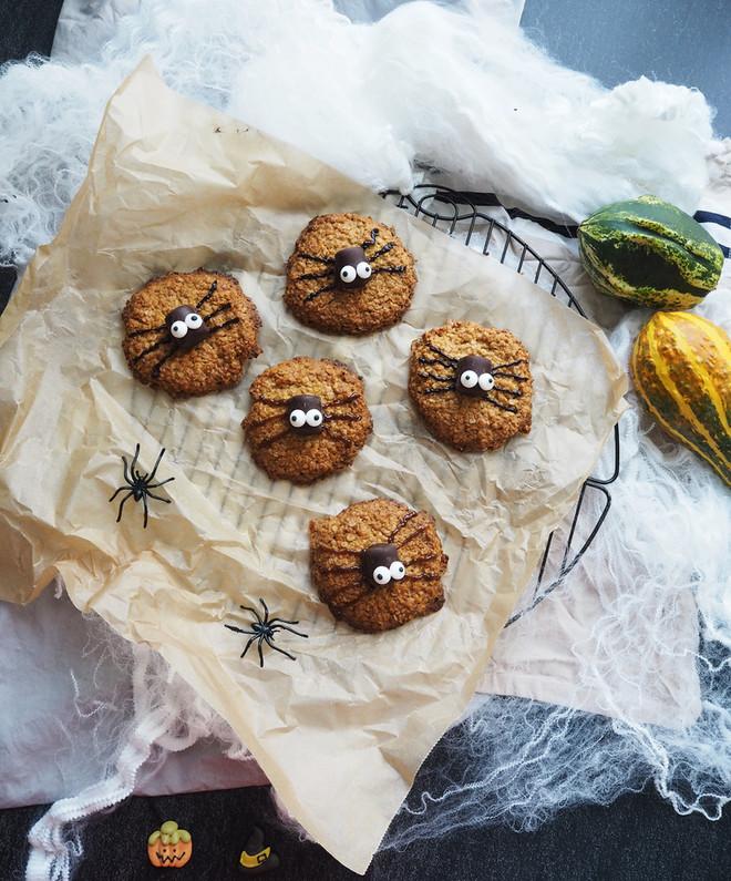 Spider Cookies mit Haferflocken