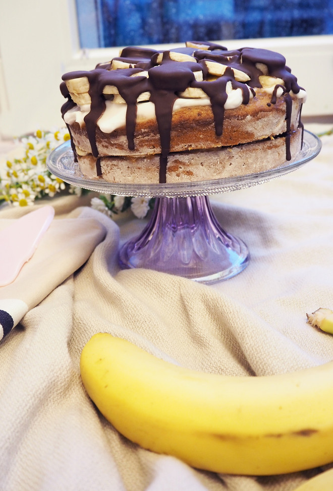 Bananenbrot als Naked Cake