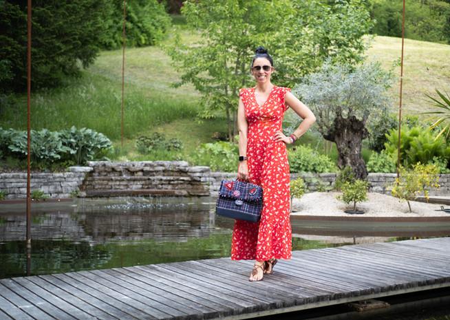 Sommer-Outfit mit Maxi Kleid und Chanel Tasche