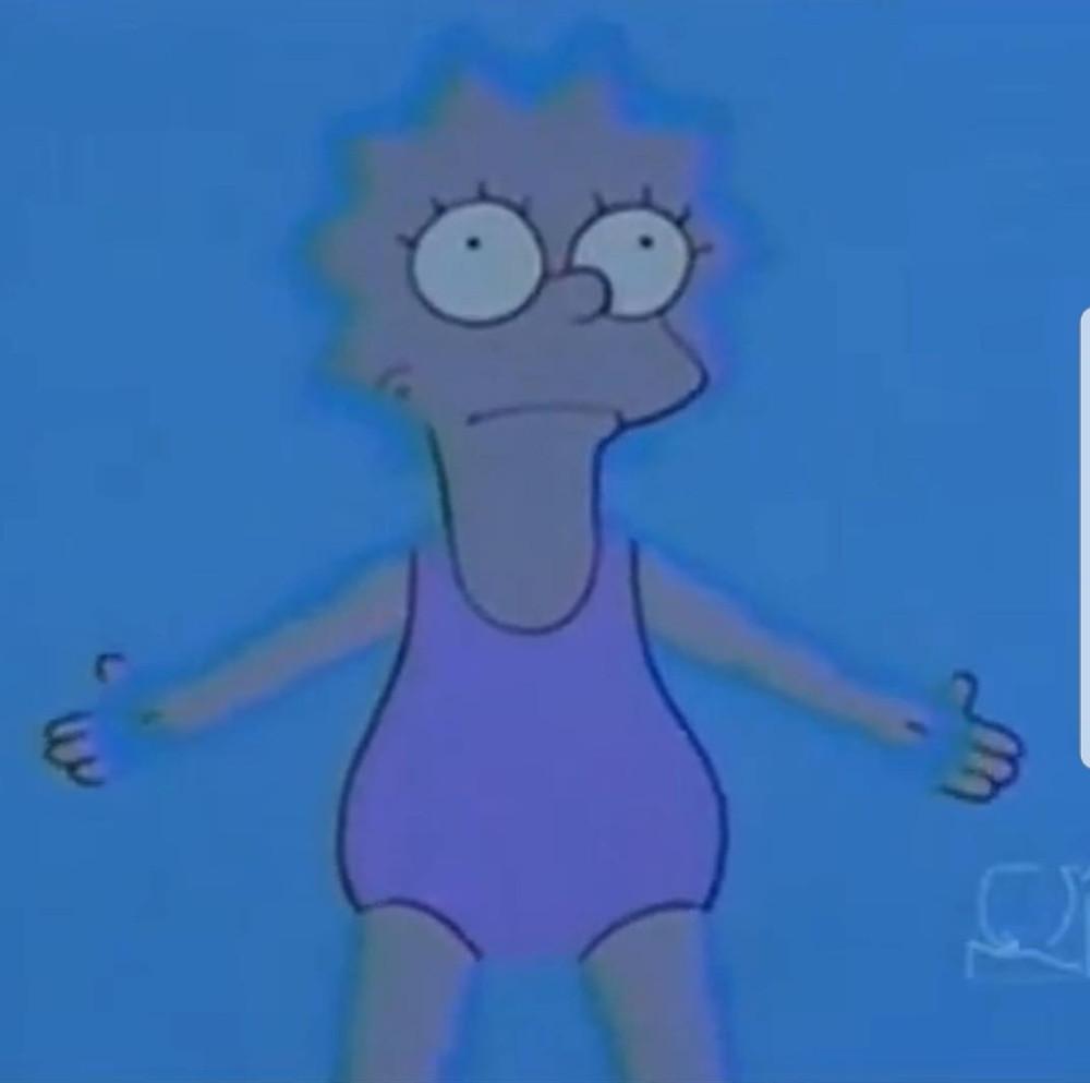 Lisa Simpson in the flotation tank