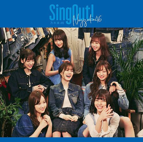 乃木坂46 23rdシングル「Sing Out!」Type:D初回仕様限定(CD+Blu-ray)盤★オリジナル特典付き