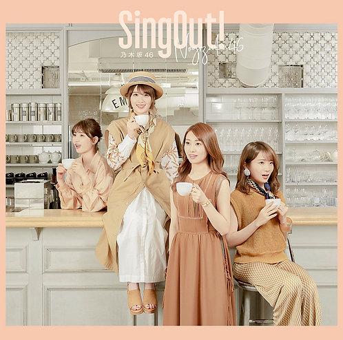 乃木坂46 23rdシングル「Sing Out!」Type:C初回仕様限定(CD+Blu-ray)盤★オリジナル特典付き