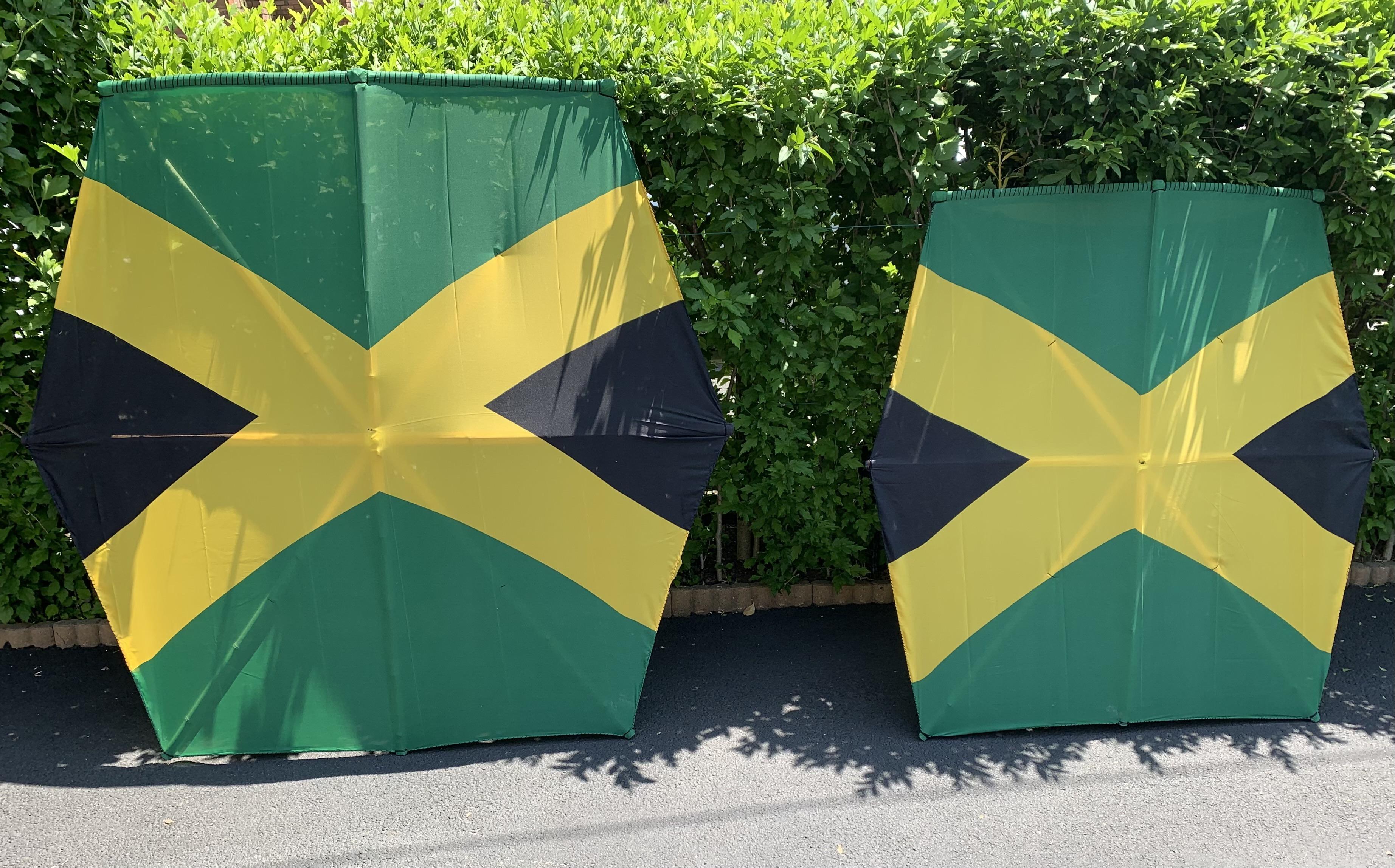 4 feet and 5 feet jamaican flag kite