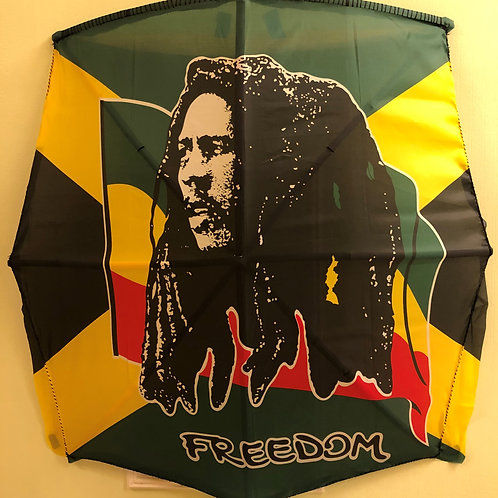 Marley Rasta Freedom Fabric Flag Kite type A