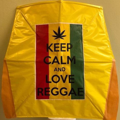 """Keep calm  and love reggae"" yellow"