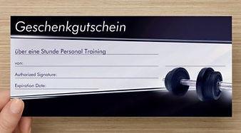 Gutschein Personaltraining