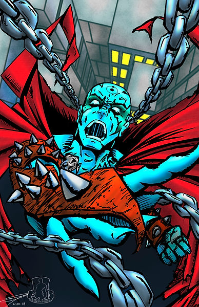 Spawn/Dr. Manhattan mashup