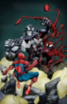 Spiderman/Carnage and Venom