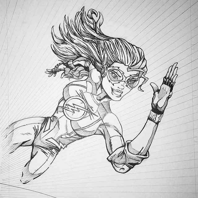 Lady Flash. One of my favorites. I really had fun with this one.