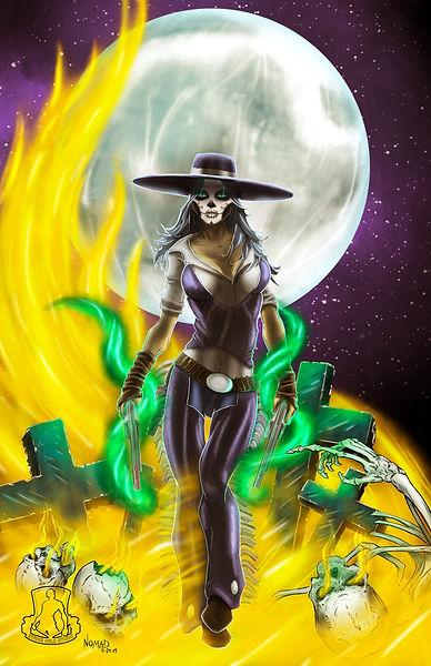 Sugar Skull Cowgirl - Phoenix