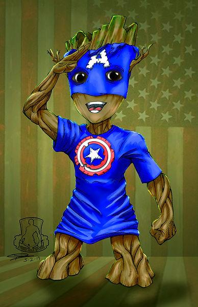 Captain Baby Groot
