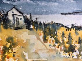 Yellow Tregardoc cottage