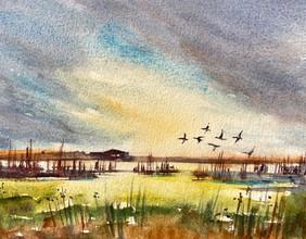 Going somewhere, watercolour 33x43 cm, £ 100