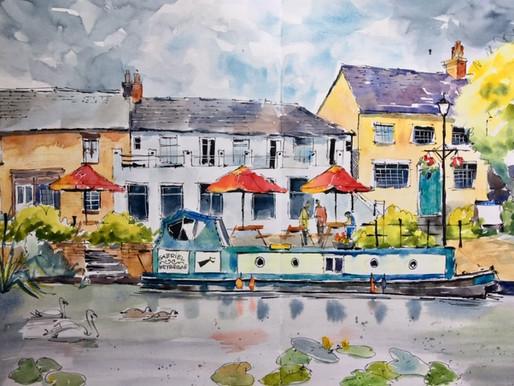 Sketching in Ely, UK