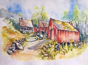 Old watermills, Norway