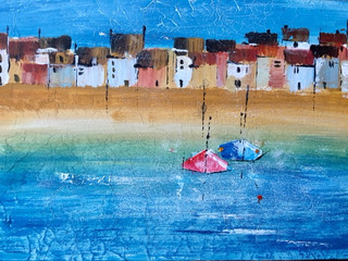 Cornish fishing boats, St Ives.