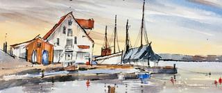 Quiet sea, Tananger harbour, Norway