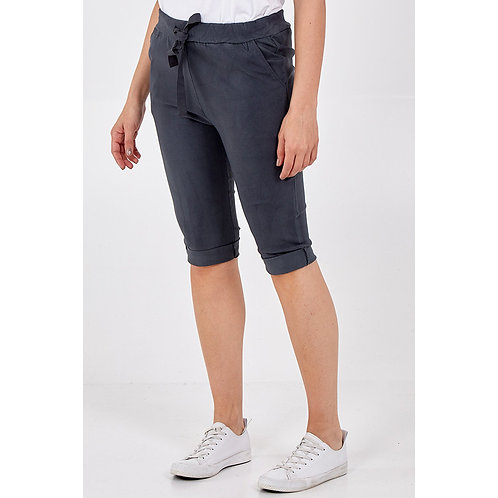 Magic Cropped Length Trousers in Charcoal