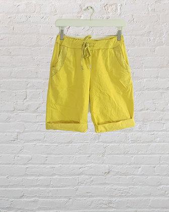 Subtle Sequin Magic Shorts in yellow